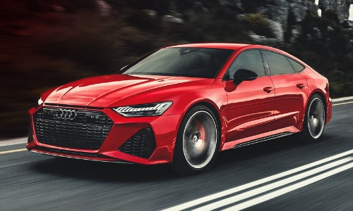 2020 Audi RS 7 exterior red color