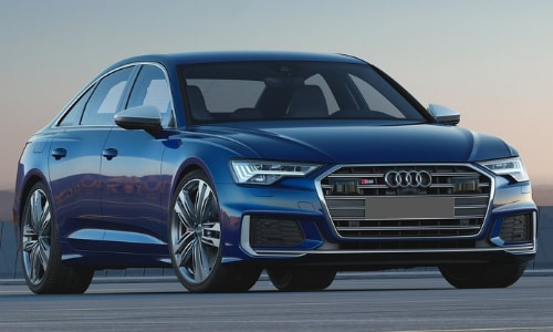 2020 Audi S6 close up sunset open air strip