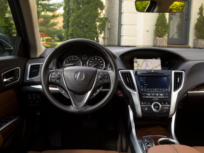 Interior view of a 2019 Acura TLX