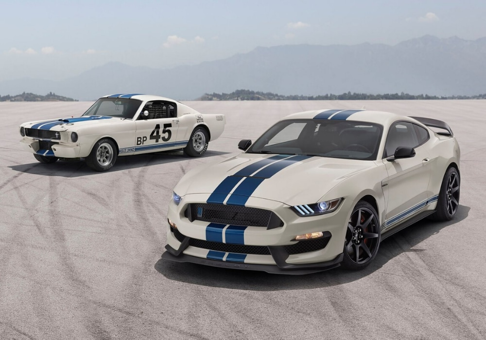 Exterior design of the new 2020 Ford Mustang compared to the older Ford Mustang version from the 1960s-1970s