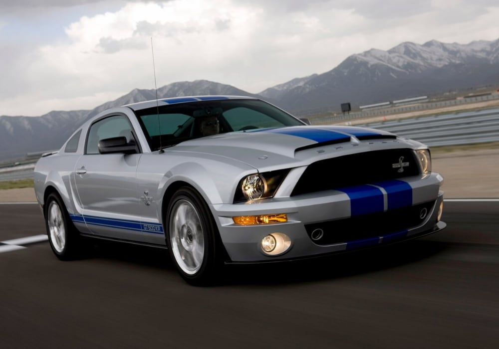 used 2008 Ford Mustang Shelby GT500 exterior view in-motion racing