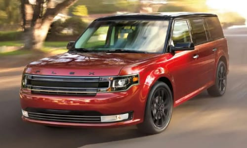 2020 Ford Flex driver side exterior neighborhood street in-motion