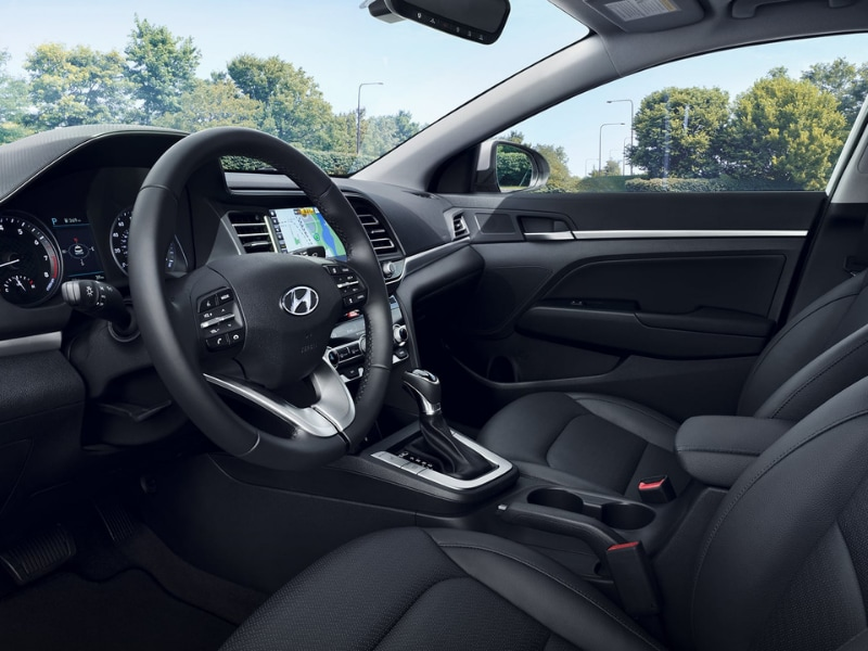 2019 Hyundai Elantra interior design view from driver door entrance