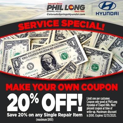 20% OFF any Single Repair Item