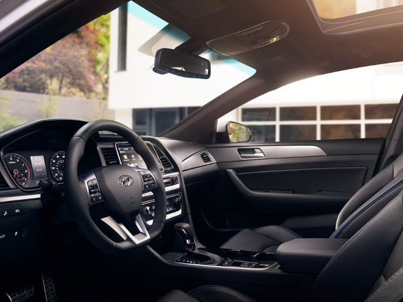 2019 Hyundai Sonata interior design view from driver door entrance