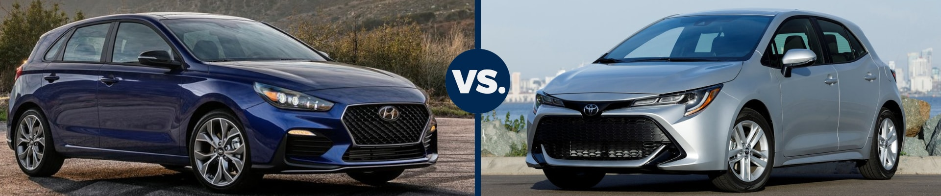 2019 Hyundai Elantra vs 2019 Toyota Corolla exterior comparison head to head