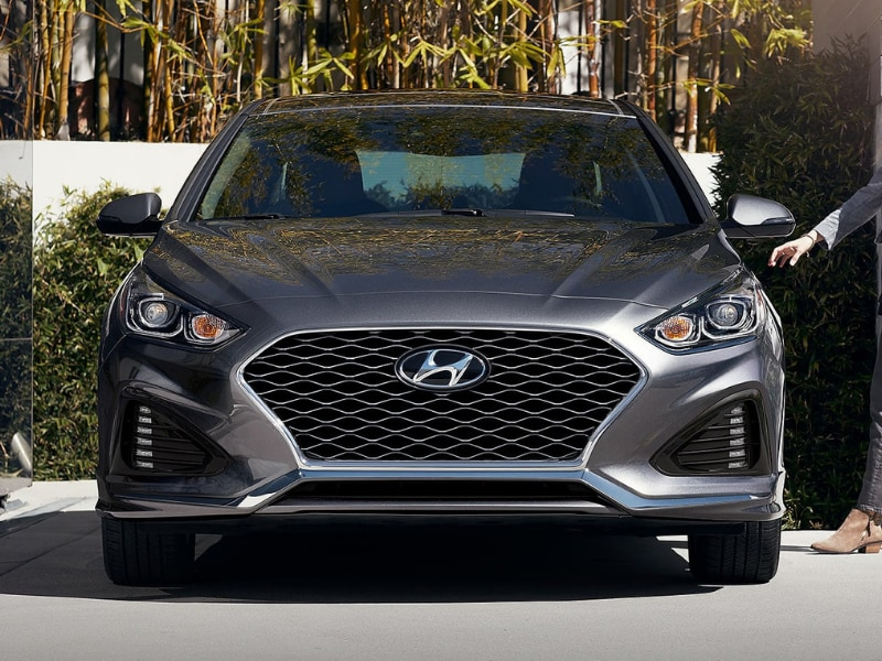 Exterior view of a 2019 Hyundai Sonata