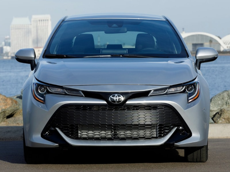 2019 Toyota Corolla front exterior parked rocky shore