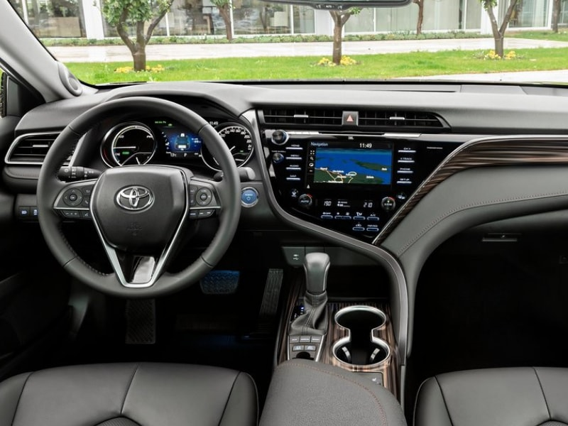 Interior view of a 2019 Toyota Camry