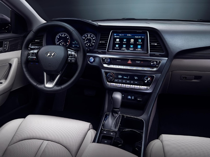Interior view of a 2019 Hyundai Sonata
