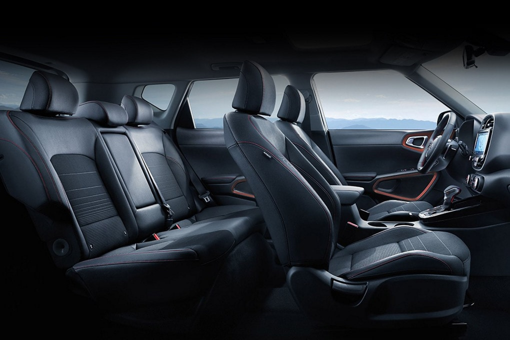 Leather interior of the all new 2020 Kia Soul