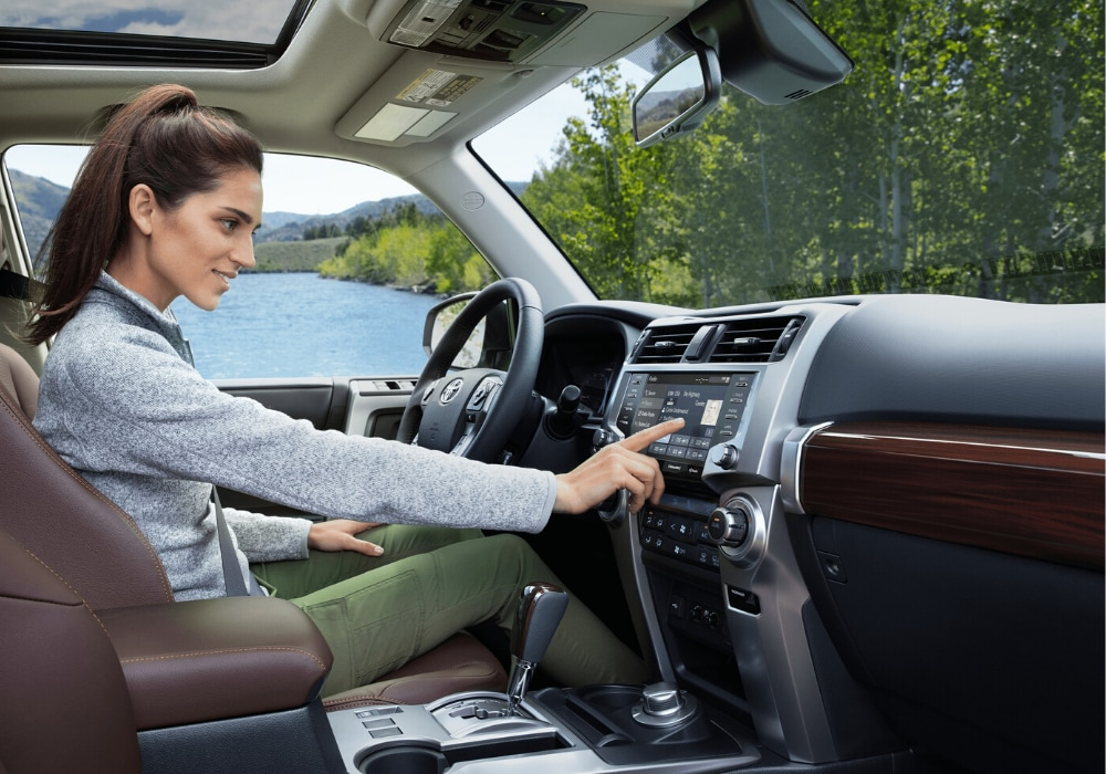 2020 Toyota 4Runner Limited front interior design as seen from the passenger seat