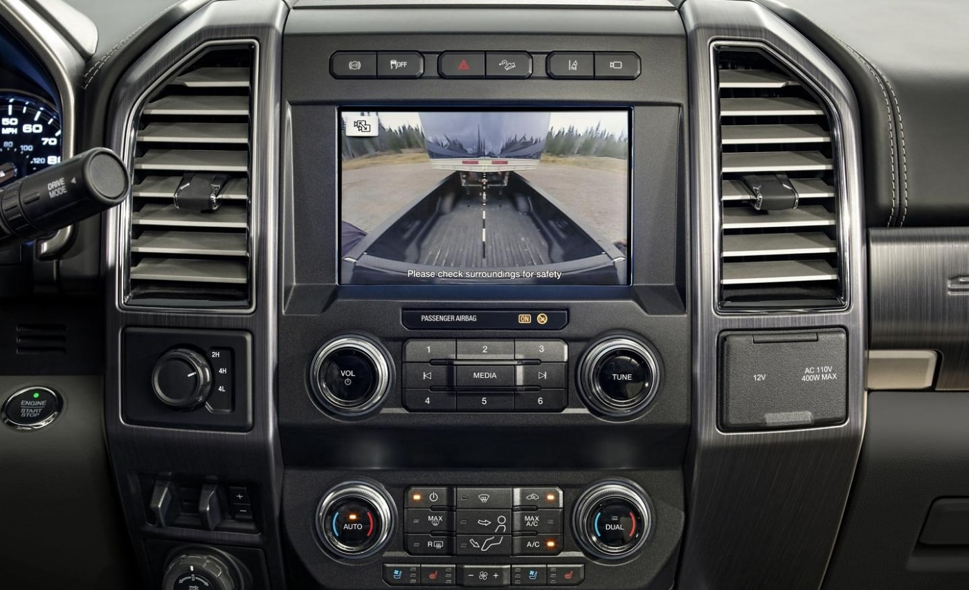Pro-trailer back-up assist camera technology inside the new Ford F-Series Super Duty trucks