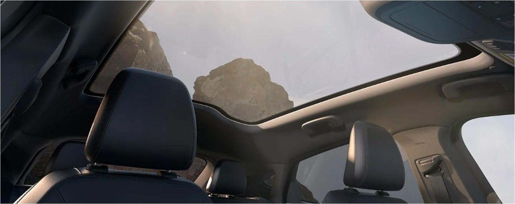 The moonroof of a 2021 Mustang Mach-E