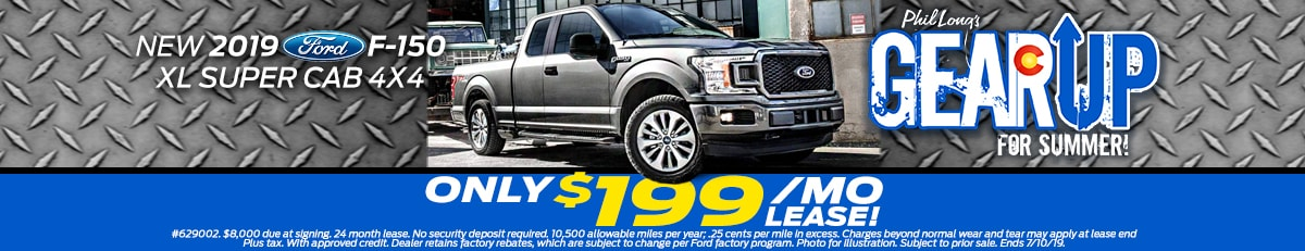 New Ford specials in Colorado Springs lease a 2019 Ford F-150 for $199/mo