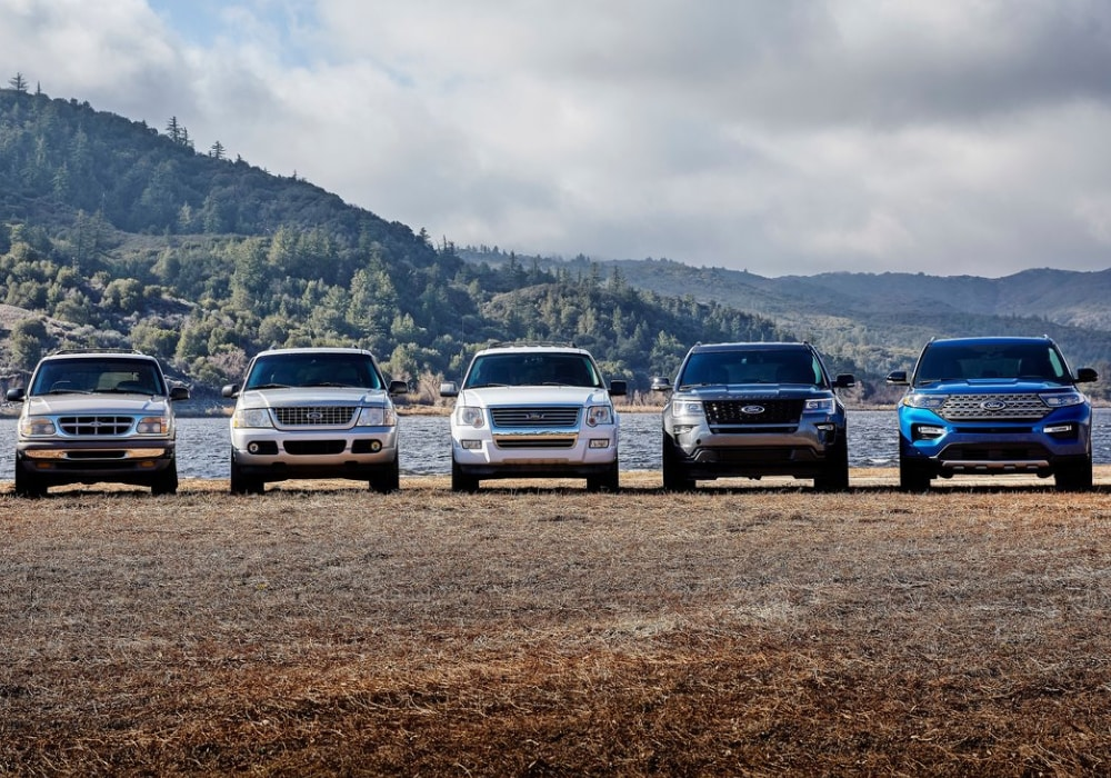 Ford Explorer models over the years through redesigns and changes