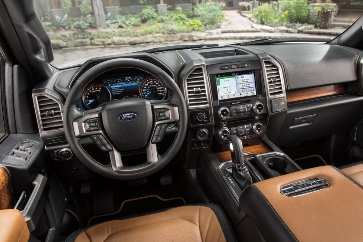 2020 Ford F-150 Limited interior design