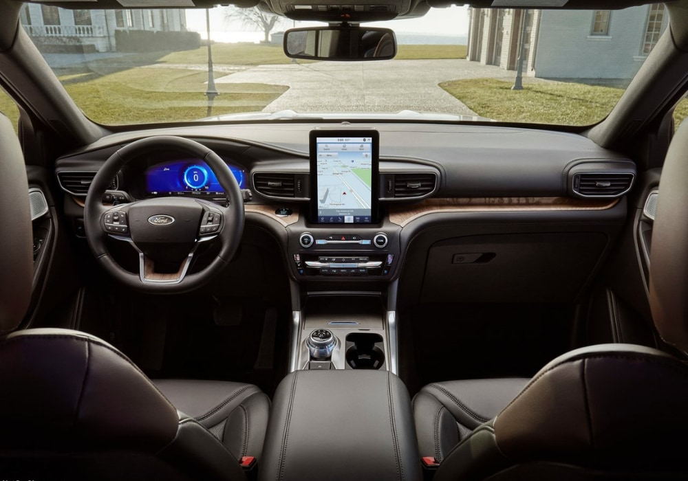 Front cabin Interior design of the 2020 Ford Explorer