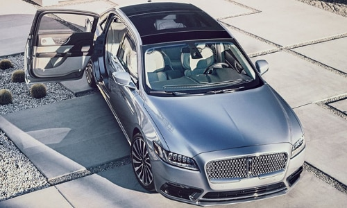 2020 Lincoln Continental Black Label Anniversary Edition aerial view silver and black