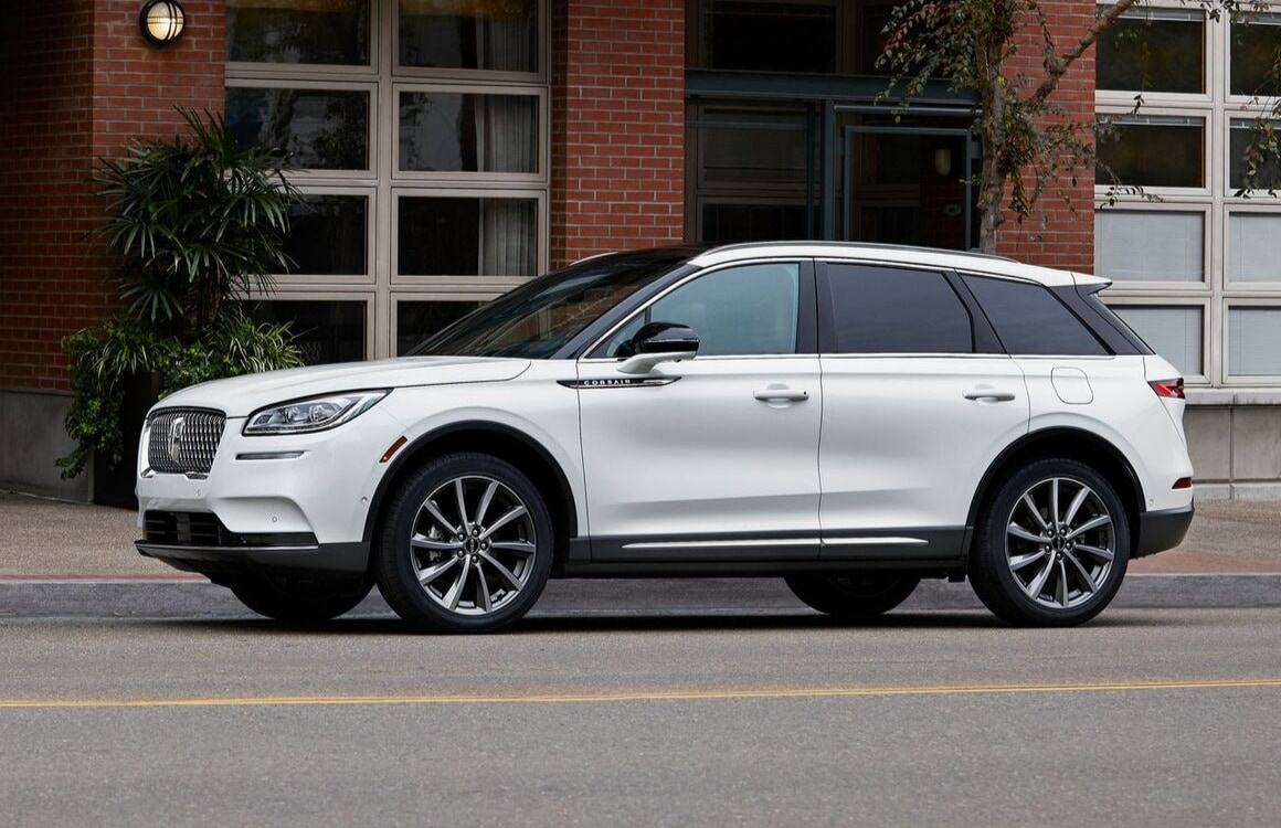 2020 Lincoln Corsiar exterior white color