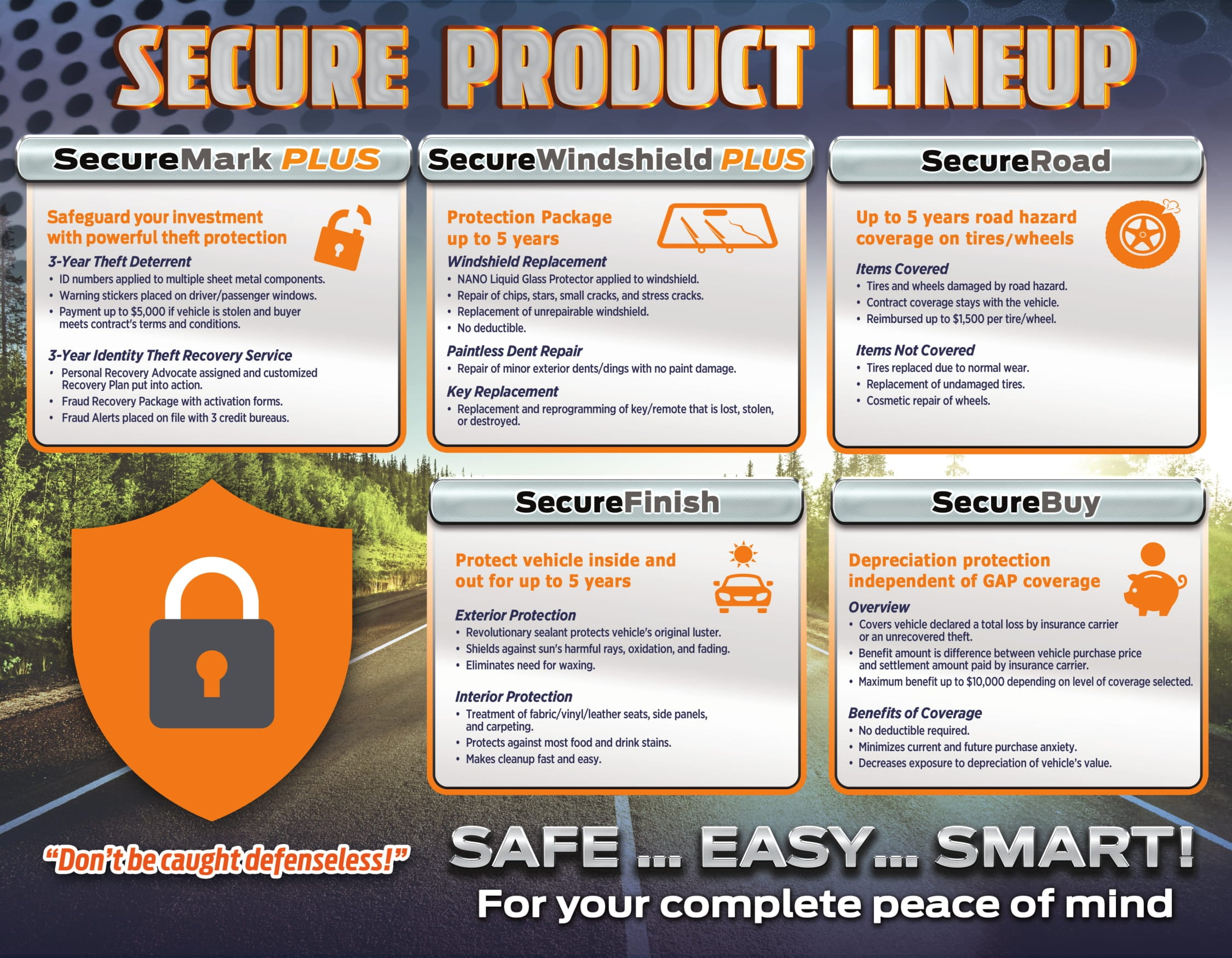 Ford secure product lineup infographic