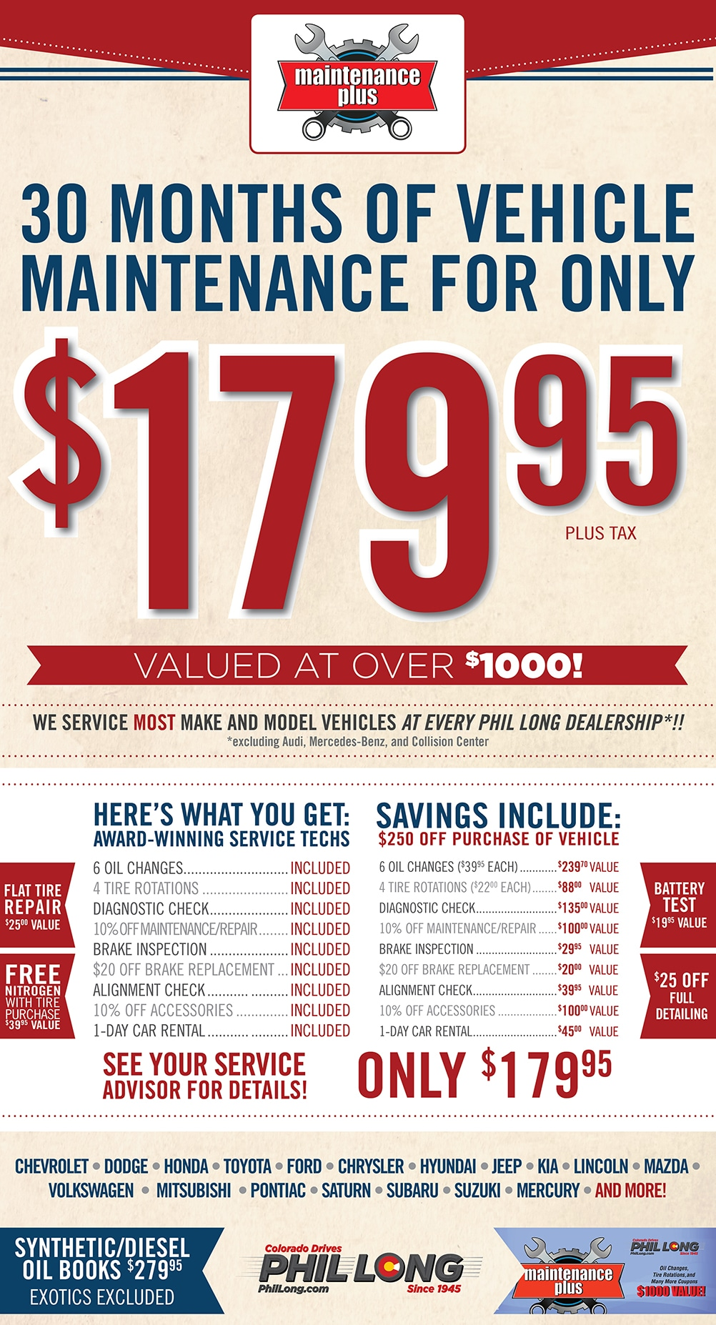 Image of Ford maintenance book specials and coupons in Colorado Springs