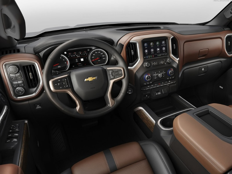 Interior view of a 2019 Chevy Silverado