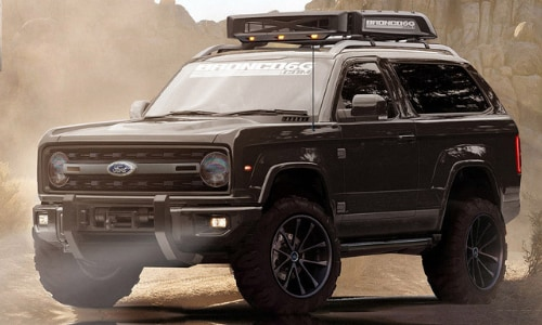 2020 Ford Bronco Raptor concept Bronco6G dirt path mountains