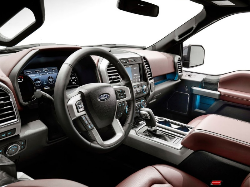 Interior of a 2019 Ford F-150