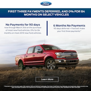 First Three Payments Deferred, and 0% for 84 Months on select vehicles