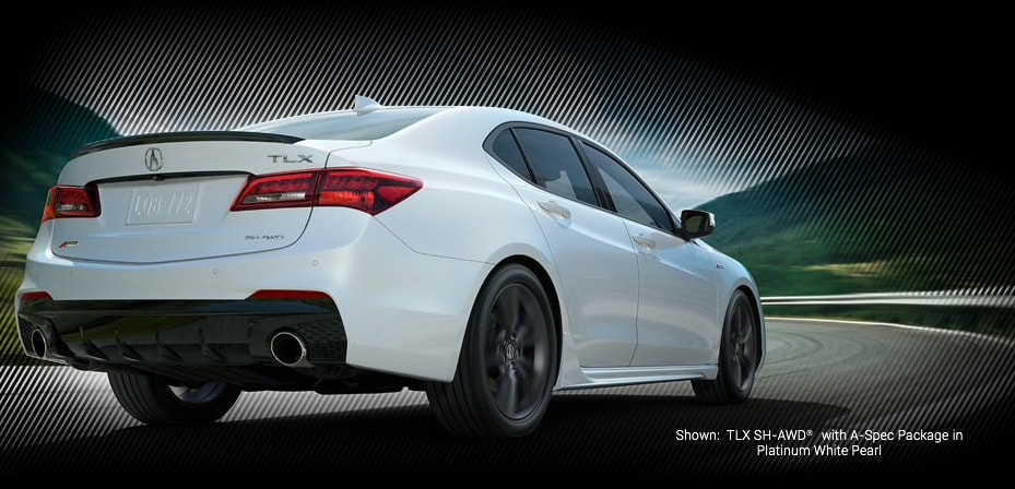 TLX SH-AWD with A-spec Package in platinum white pearl