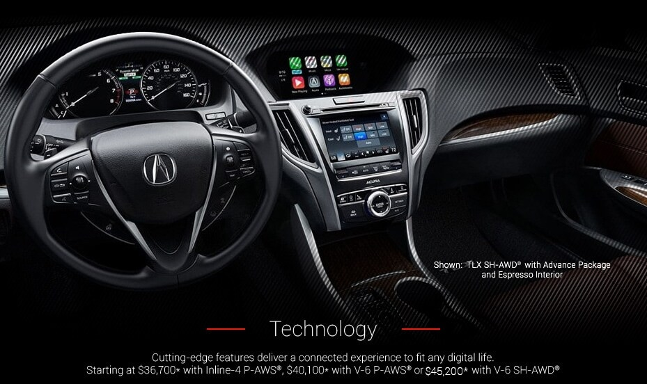 Shown:TLX with Advance Package and Espresso interior