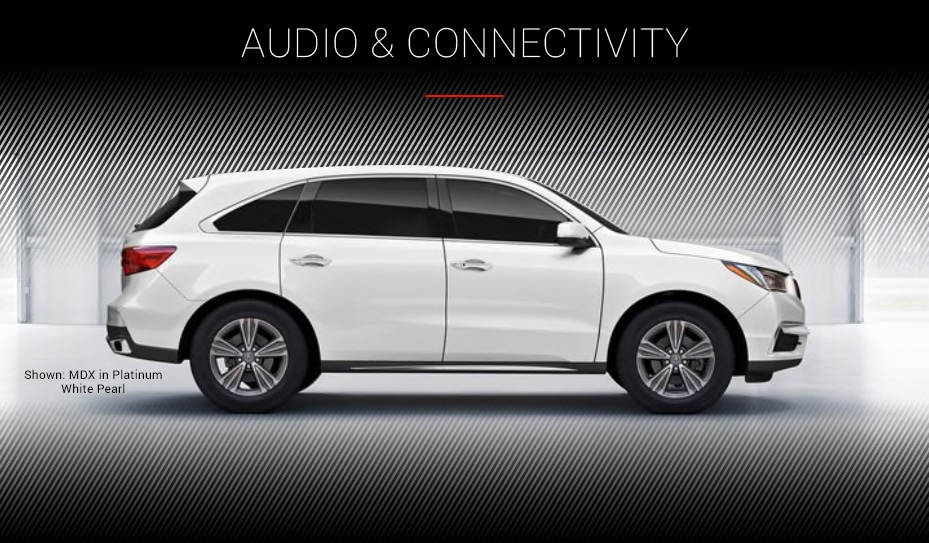 Audio & Connectivity Shown: MDX in White Diamond Pearl