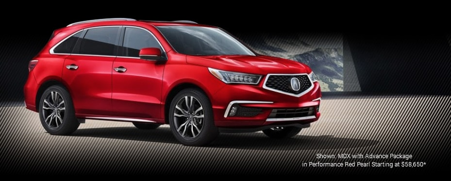 Shown: MDX with Advance Packagein Performance Red Pearl