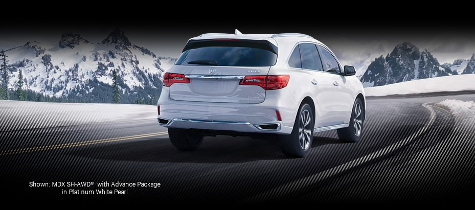 Shown: MDX SH-AW with Advance Packagein White Diamond Pearl