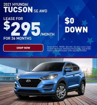 2021 Hyundai Tucson SE AWD $0 Down