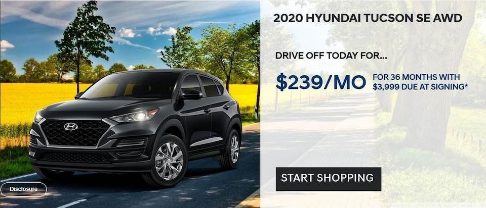 2020 Hyundai Tucson SE AWD Lease