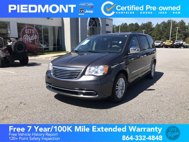 Certified 2015 Chrysler Town & Country 4dr Wgn Touring-L w/ Leather Seats & Bluetooth Van Anderson, SC