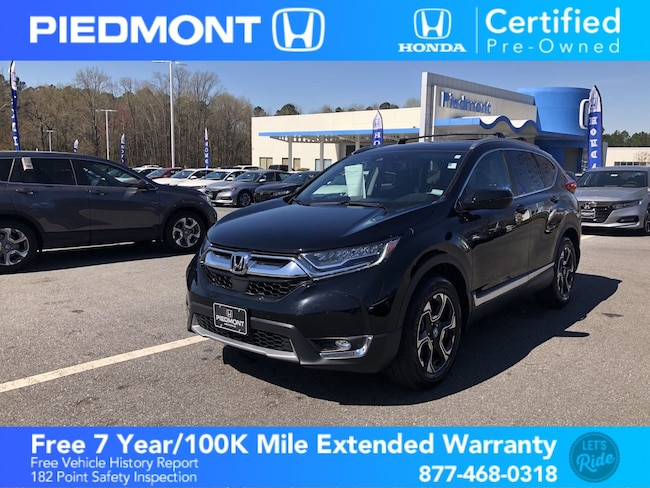 Certified 2018 Honda CR-V Touring AWD w/ Black Leather Seats & Sunroof SUV Anderson, SC
