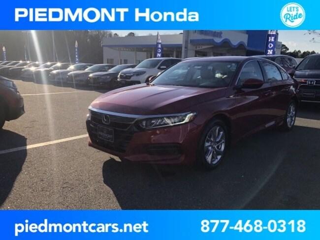 New 2019 Honda Accord LX Sedan Anderson, SC