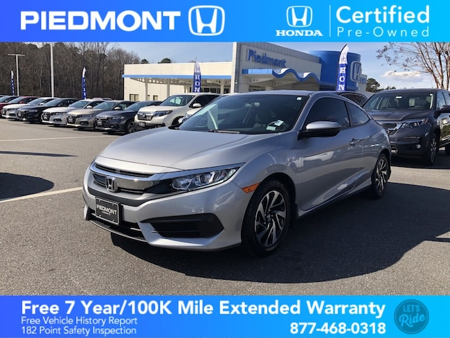 Certified 2017 Honda Civic LX Coupe Anderson, SC