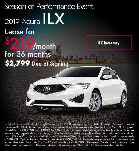 November 2019 Acura ILX