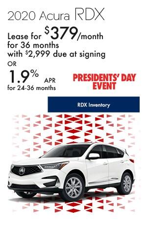 February 2020 Acura RDX