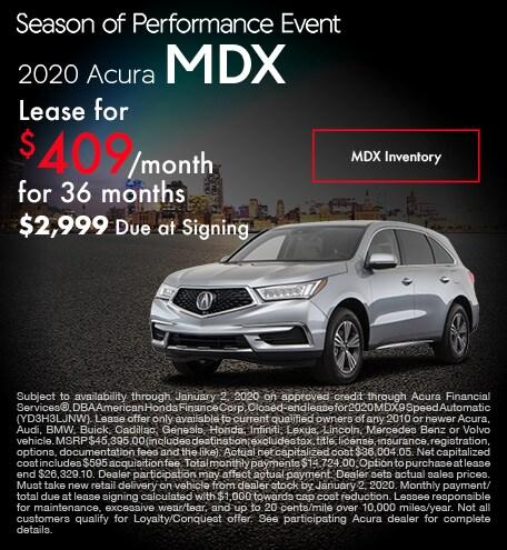 November 2020 Acura MDX