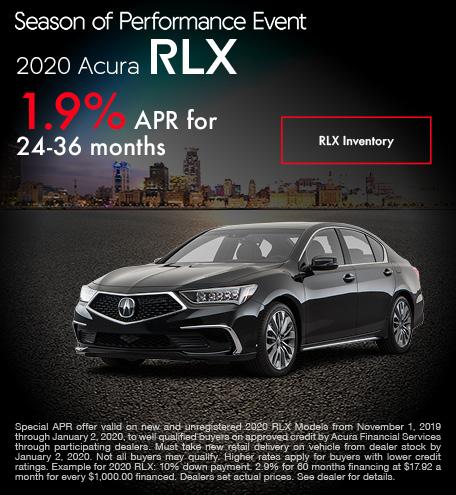 November 2020 Acura RLX