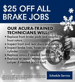 $25.00 Off All Brake Jobs