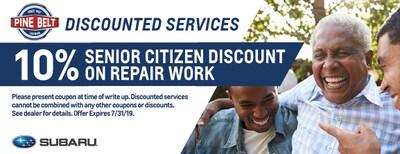 10% Senior Citizen Discount on Repair Work