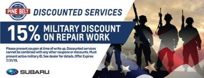 15% Military Discount on Repair Work