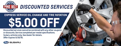 $5 Off Express Oil Change & Tire Rotation