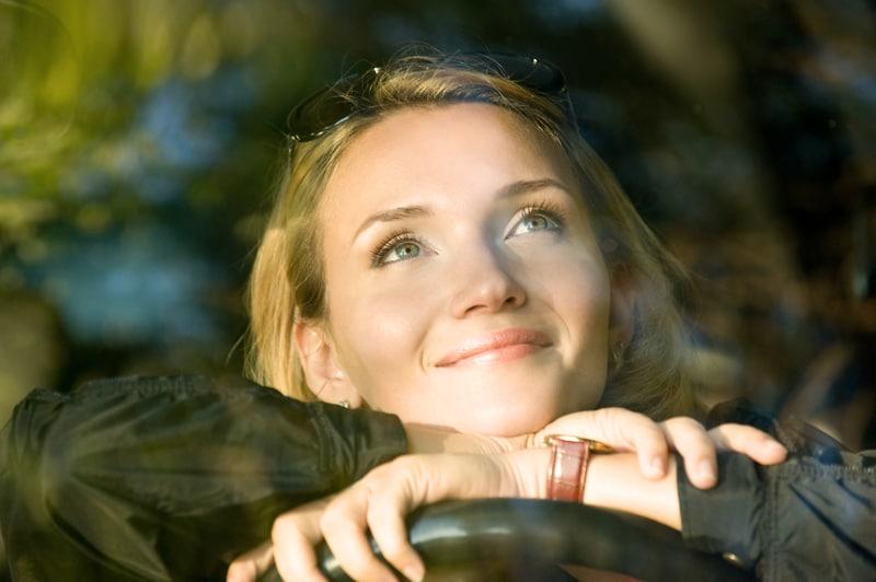 calm woman driver
